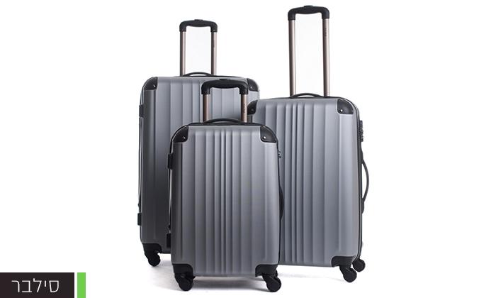 8  סט 3 מזוודות קשיחות CalPak