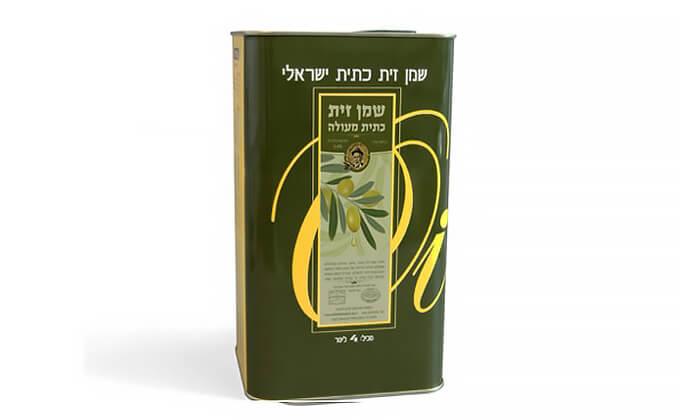 4 2 ליטר שמן זית כתית כשר למהדרין, משק אלוני