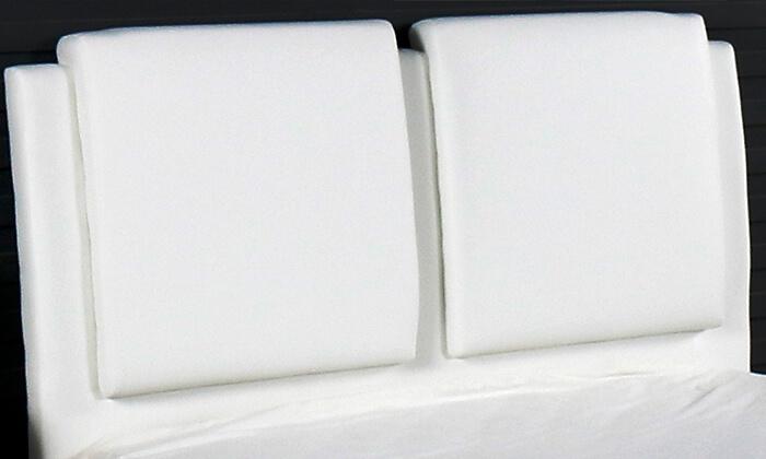 3 מיטה זוגית מרופדת עם ארגז מצעים Vitorio Divani