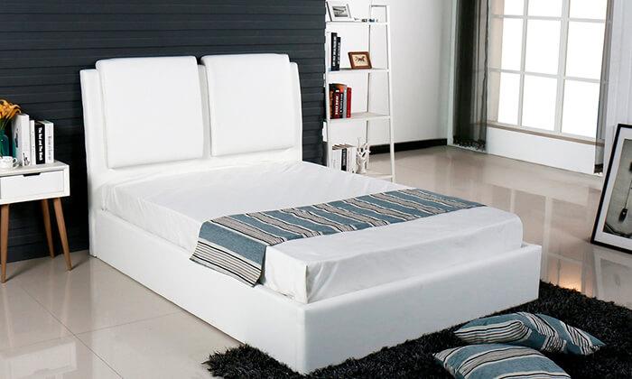 2 מיטה זוגית מרופדת עם ארגז מצעים Vitorio Divani