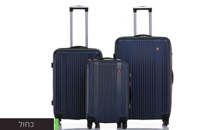 4 סט 3 מזוודות קשיחות SWISS ZURICH