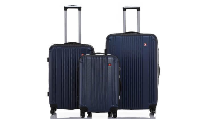 11 סט 3 מזוודות קשיחות SWISS ZURICH