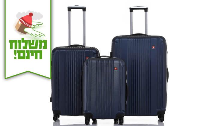 6 סט 3 מזוודות קשיחות SWISS ZURICH