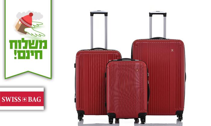 2 סט 3 מזוודות קשיחות SWISS ZURICH