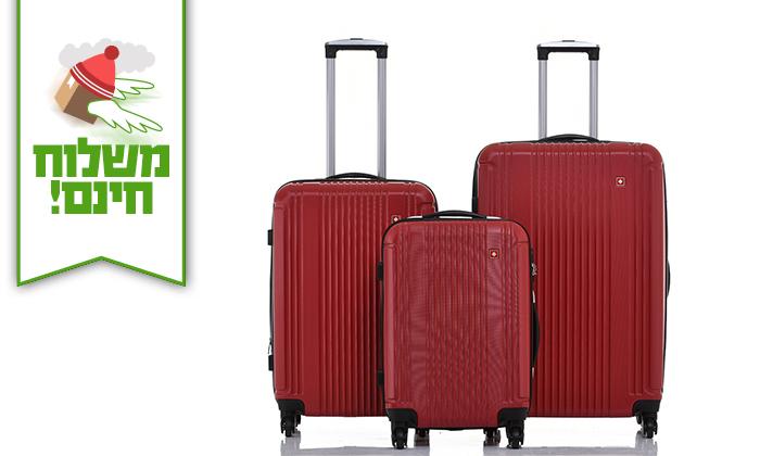 12 סט 3 מזוודות קשיחות SWISS ZURICH