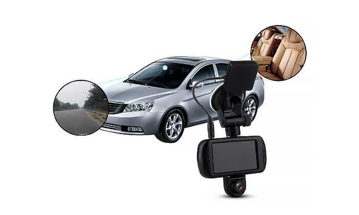 4 מצלמת דרך דו-כיוונית לרכב Discovery עם GPS מובנה