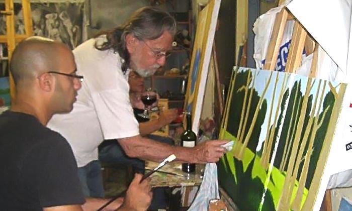 3 סדנת ציור בסטודיו של האמן מיגל תומר בתל אביב