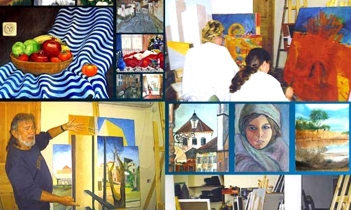 5 סדנת ציור בסטודיו של האמן מיגל תומר בתל אביב