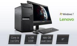 מחשב נייח LENOVO כולל מסך ''19