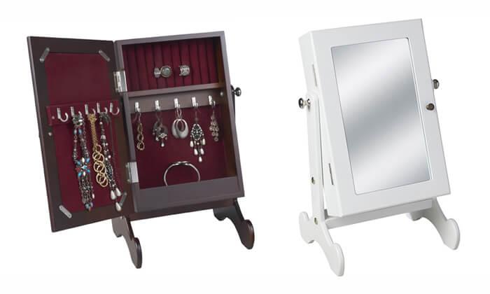 2  ארונית תכשיטים משולבת מראה