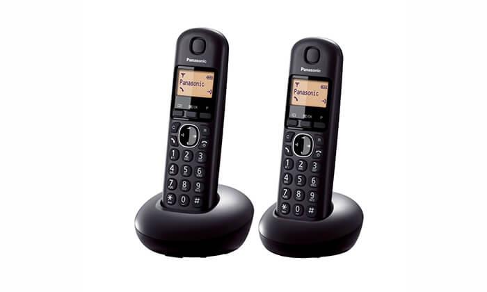 3 טלפון אלחוטי זוגי Panasonic - משלוח חינם!