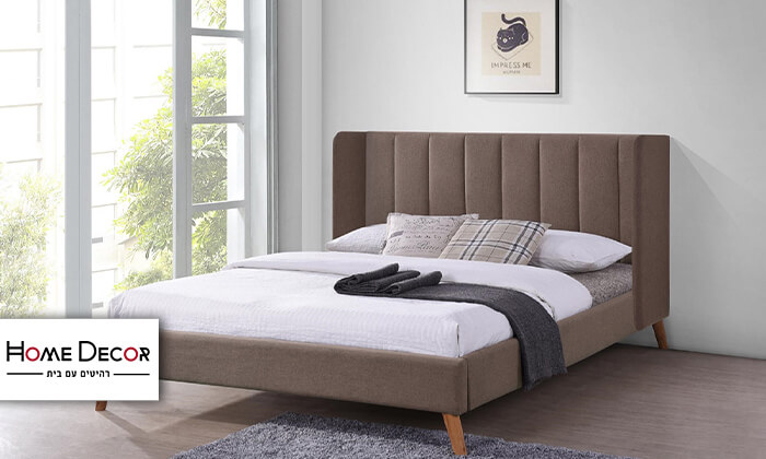 2 מיטה זוגית מרופדת HOME DECOR