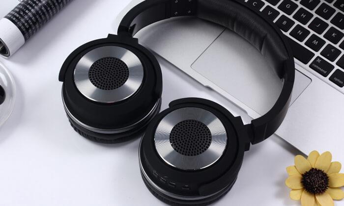 3 אוזניות Bluetooth אלחוטיות עם רמקולים מובנים