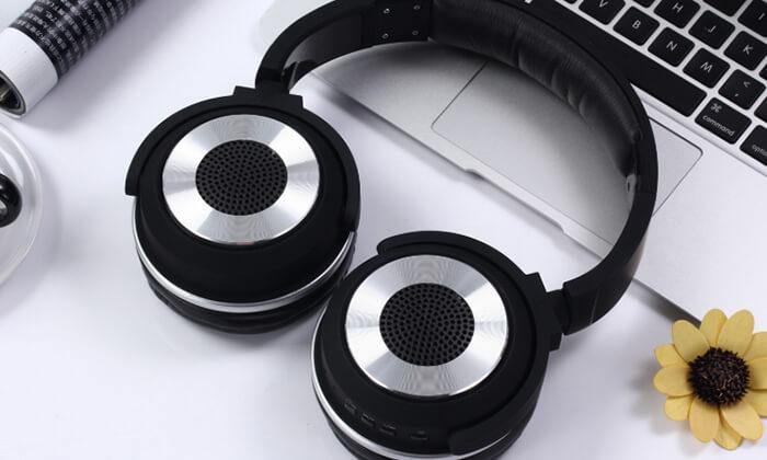 2 אוזניות Bluetooth אלחוטיות עם רמקולים מובנים
