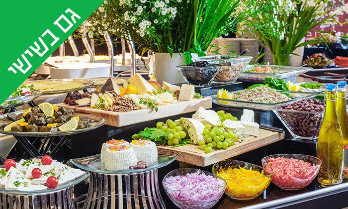 2 ארוחת בוקר בופה במלון לאונרדו ביץ', חוף גורדון תל אביב