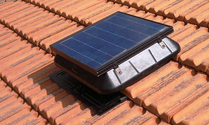 3 מפוח סולארי לגג DRS Solar לקירור הבית