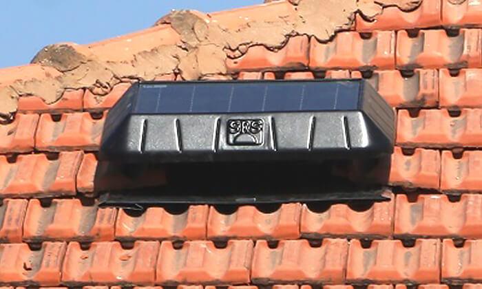 4 מפוח סולארי לגג DRS Solar לקירור הבית