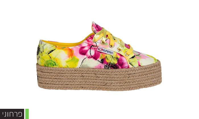 4 נעלי סניקרס עם פלטפורמה לנשים SUPERGA