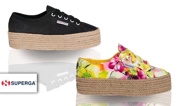 2 נעלי סניקרס עם פלטפורמה לנשים SUPERGA