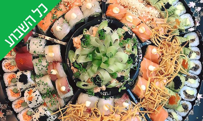6 מגש סושי במסעדת Umami, שוק הכרמל תל אביב