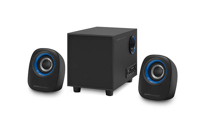 6 מערכת רמקולים למחשב Pure Acoustics עם חיבור Bluetooth - משלוח חינם!
