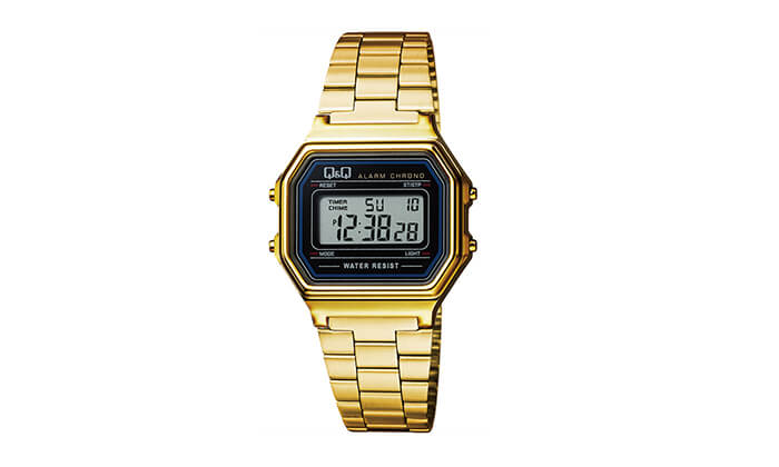 3 שעון יד דיגיטלי מלבני לאישה Q&Q