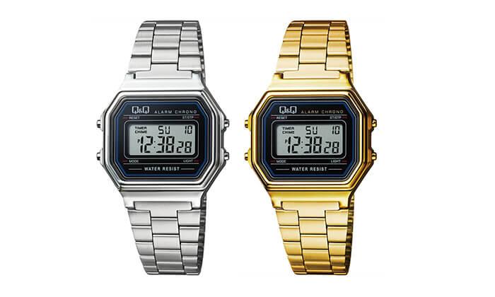 5 שעון יד דיגיטלי מלבני לאישה Q&Q
