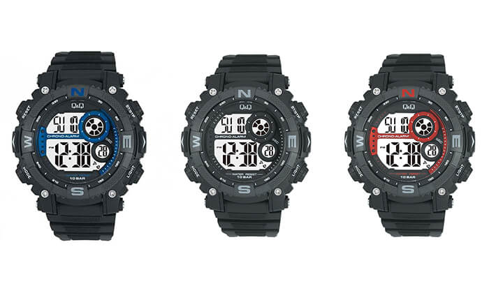 7 שעון יד דיגיטלי לגבר Q&Q - משלוח חינם!