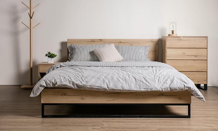 2 מיטה זוגית מעץ MDF ומתכת Take It