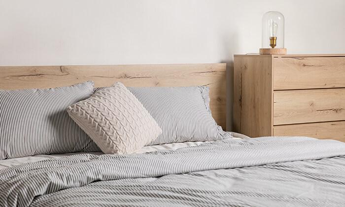 4 מיטה זוגית מעץ MDF ומתכת Take It