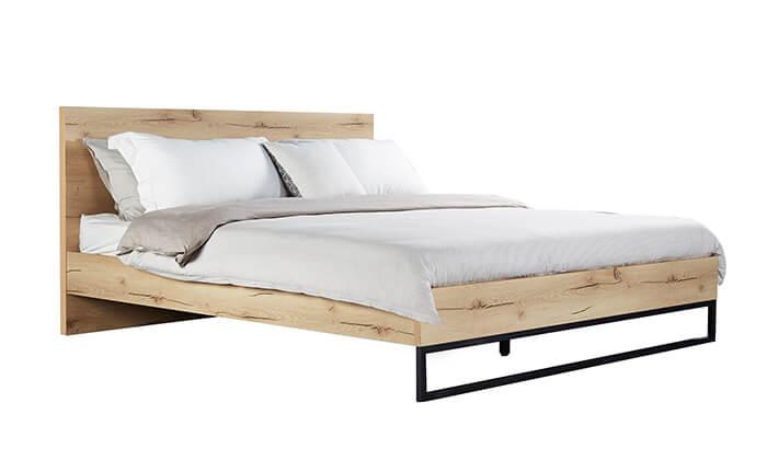 5 מיטה זוגית מעץ MDF ומתכת Take It