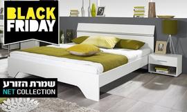 מיטה זוגית ושידות דגם אורבניקה