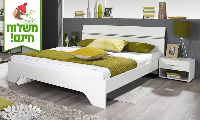 5 שמרת הזורע: מיטה זוגית עם זוג שידות לילה - הובלה חינם!