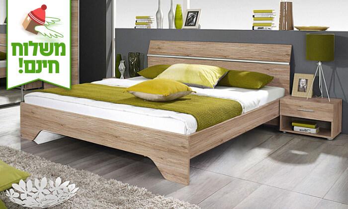 6 שמרת הזורע: מיטה זוגית עם זוג שידות לילה - הובלה חינם!