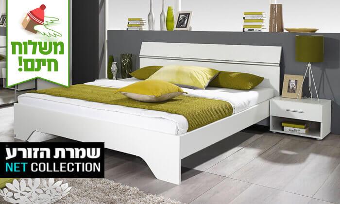 2 שמרת הזורע: מיטה זוגית עם זוג שידות לילה - הובלה חינם!
