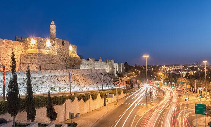 """3 חופשה אורבנית בירושלים, כולל סופ""""ש"""