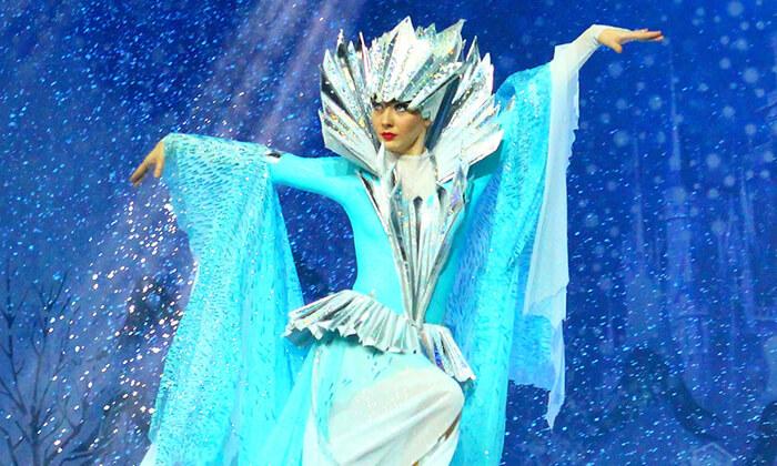 2 כרטיס למופע 'מלכת השלג' - קרקס על הקרח, מגוון מיקומים ומועדים