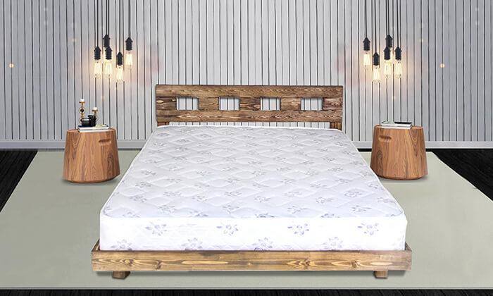 2 מיטה זוגית מעץ מלא