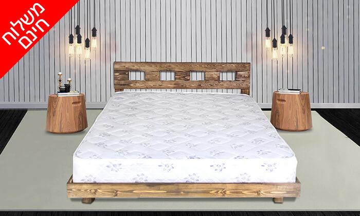 2 מיטה זוגית מעץ מלא - הובלה והרכבה חינם