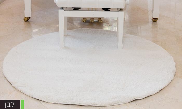 4 שטיח עגול לסלון קטן - שאגי