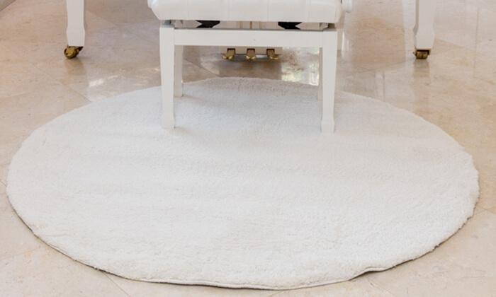 2 שטיח עגול לסלון קטן - שאגי