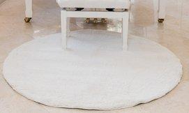 שטיח שאגי עגול לסלון קטן