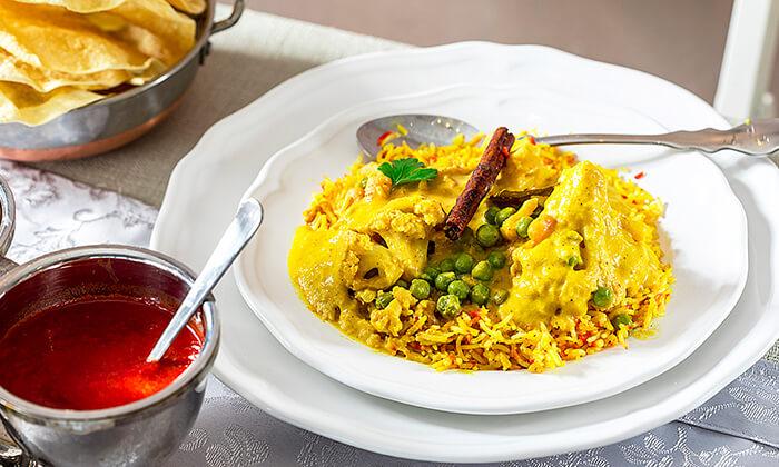 5 ארוחה הודית זוגית בקארילינה הכשרה, בני ברק
