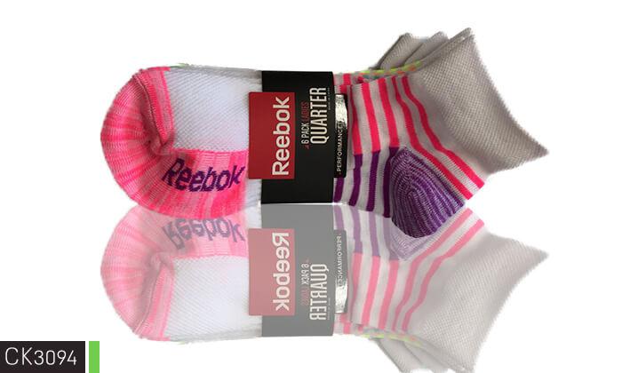 3 18 זוגות גרביים לנשים Reebok