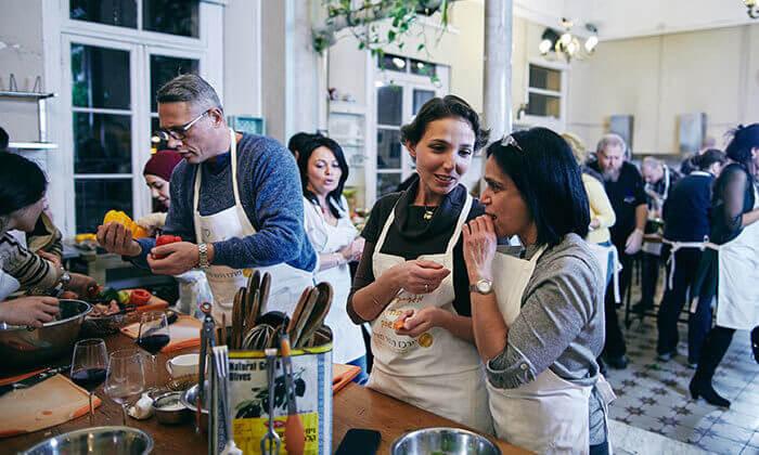 12 סדנת בישול איטלקי חלבי במבשלים חוויה - הבית של סדנאות הבישול, תל אביב