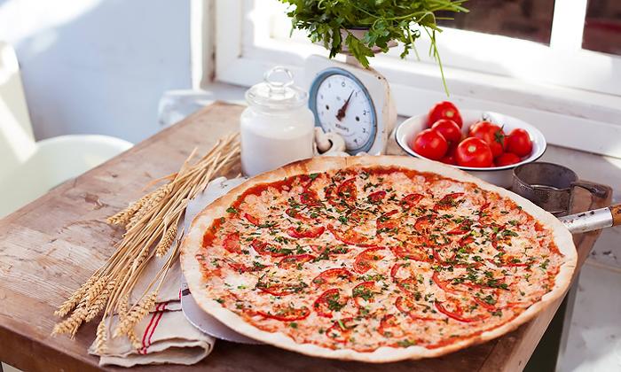 4 פיצה עגבניה כשרה למהדרין בקניון עזריאלי רמלה - מגש XL בהטבת 1+1