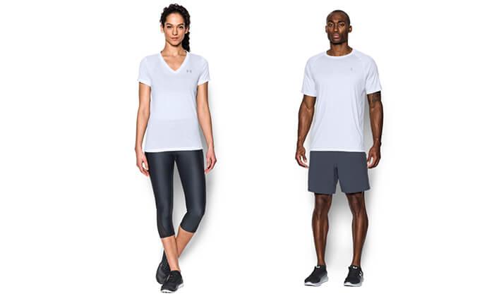 11 חולצת אימון לאשה ולגבר UNDER ARMOUR