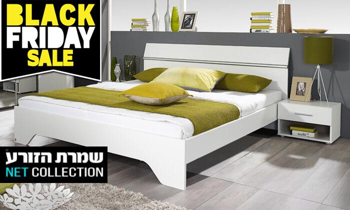 2 חגיגת Black Friday - שמרת הזורע: מיטה זוגית עם זוג שידות לילה