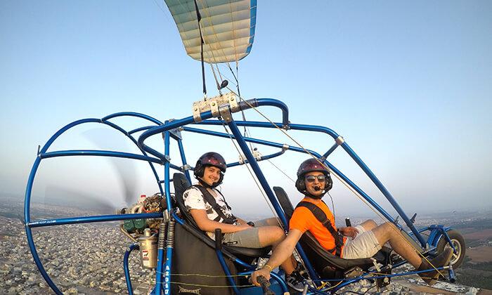 5 טיסה בבקאי - טרקטורון מעופף - עם 'עד השמיים - טיסות חוויה', עין ורד