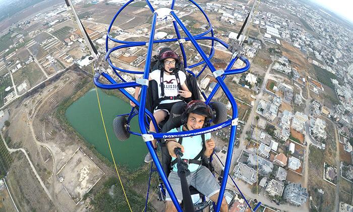 6 טיסה בבקאי - טרקטורון מעופף - עם 'עד השמיים - טיסות חוויה', עין ורד